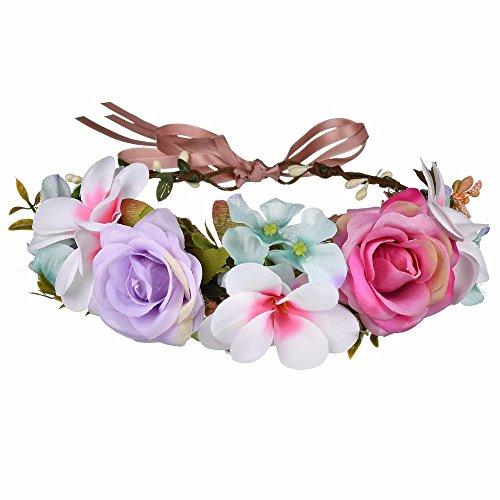 AdorabFitting Girlande garland girlande guder kranz gudelj grunwald Handgefertigt Flanell Simulation Blumen europäischen und amerikanischen Damen Urlaub