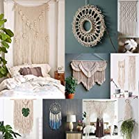 Best Accessories For Home Improvement !!! Beisoug DIY 3Mm X 200M Macrame Cotton Rope Cord For Wall Hanging Dream Catcher Knit Handmade Art Craft Home Decor