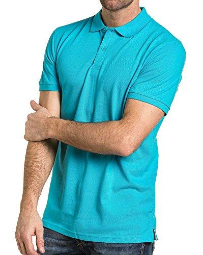 BLZ jeans - Pique Polo vereint türkis Mann Blau