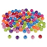 IPOTCH 100x Harz Perlen zum auffädeln, Bastelperlen Schmuckperlen zum basteln Perlen mit Loch - Silberkreuz