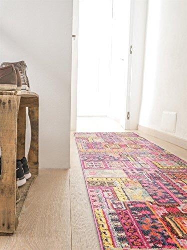 benuta tappeto moderno passatoia casa multicolor 70x240 cm