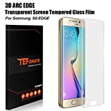 TEFOMATE Galaxy S6 Edge Protection écran, Verre Trempé Protecteur Tempered Glass Screen Protector pour Samsung Galaxy S6 Edge 5.1' [Curved 3D] (Transparent)