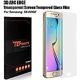 """Protector Pantalla S6 Edge, TEFOMATE® Cristal Vidrio Templado Protector de Pantalla Completa Tempered Glass Screen Protector para Samsung Galaxy S6 Edge 5.1"""" [Curvado 3D] - Transparente"""