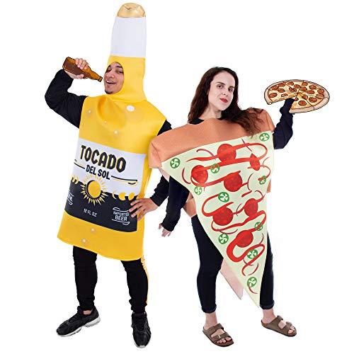 College Maskottchen Kostüm - Unbekannt Pizza Slice und Bierflasche für
