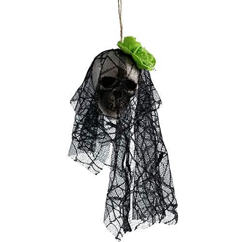 (Aprigy - DIY Künstliche Schaum Schädel-Braut-Kleidung Halloween-Dekor Knochen Kopf Hängen Hauptdekorationen Festival Partyangebot [5 ])