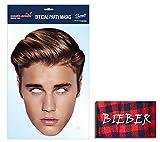 Justin Bieber berühmtheit Single Karte Partei Gesichtsmasken (Maske) Enthält 6X4 (15X10Cm) starfoto
