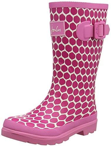 Joules Jnr Girls Welly, Bottes de Pluie fille Pink (Pink Spot)