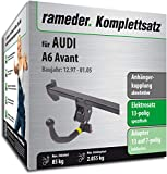 Rameder Komplettsatz, Anhängerkupplung abnehmbar + 13pol Elektrik für Audi A6 Avant (112770-03395-1)