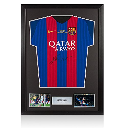 Framed-Lionel-Messi-Signed-Barcelona-Shirt-20162017-Barca-6-1-PSG-Edition