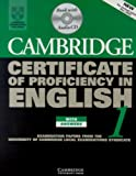 Cambridge Certificate of Proficiency in English 1 Self-Study Pack: Examination papers from the University of Cambridge Local Examinations Syndicate (CPE Practice Tests)