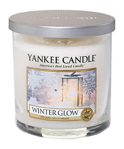 YANKEE CANDLE 1342542E Lueur hivernale Petite Colonne, Cire, Blanc, 7,9 x 7,9 x 8,2 cm