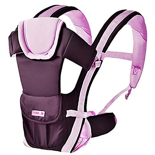 Kingtoys® Komfort Babytrage Kindertrage Baby Tragetasche Bauchtrage Rückentrage babycarrier Holder Einstellbar (01 Pink)