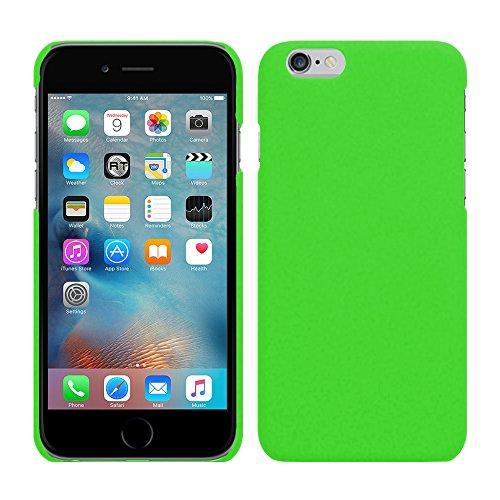 Apple iPhone 6S Plus (5,5 Zoll) - Rubber Schutzhülle Gummiert Hybrid Hard Case Schutz Cover Etui Hülle Tasche in Weiß - RT-Trading Grün