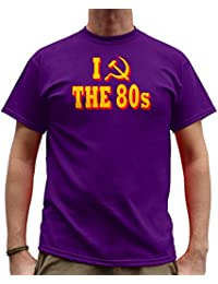 Nutees I Love 80's Fancy Dress Costume Party Funny Mens T Shirt - Purple