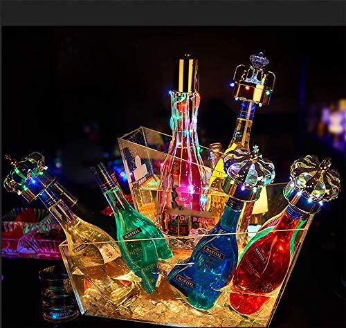 JUSTINZZ LED Doppelte Eiskübel, Großraum Flaschenkühler - Sektkühler - Weinkühler - Getränkekühler - Kühler LED Wasserdicht Mit Farbwechsel, Für Party, Haus, Bar, Etc.
