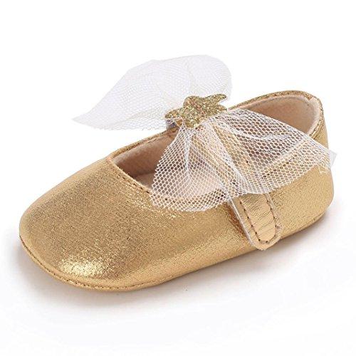 Star Bogen Schuhe HKFV ,Neugeborenes Baby Bowknot Schuhe Soft Sole Crib Kleinkind Anti-Slip Nette Sterne (11) (First Crib Star Schuhe)
