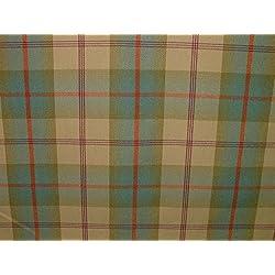 1Metre Balmoral Aqua lana efecto lavable a DE grosor diseño DE tela escocesa tapicería y cortina funda de tela