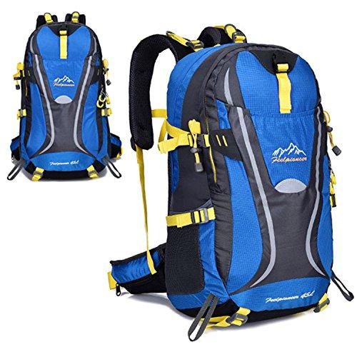 Young & Ming - 45L Unisex Rucksäcke Im Freien Wandern Klettern Freizeit Trekkingrucksäcke Outdoor Taschen Radfahren Reiten Reisetaschen wasserdicht Backpack Blau1