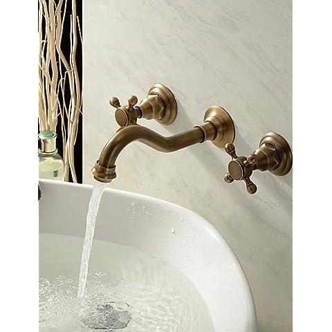 KHSKX Rubinetti lavandino bagno - Tradizionale - DI Ottone Ottone lucido)