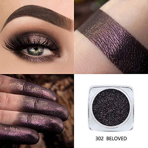 Mitlfuny Karnevals Make-up Fastnacht & Mottopartys,PHOERA Glitter Powder Shimmering Colors Lidschatten Augenschminke aus Metall -