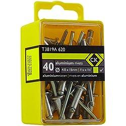 C.K T3819A 620 - Caja de 50 remaches de aluminio de 4,8 x 16 mm