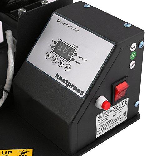 Lartuer Transferpresse Tassenpresse Heat Press Machine für zylindrische und konische Tassen 2 in 1 Digitale Zeitregelung und Temperaturüberwachung (2 in 1 Tassen) - 7