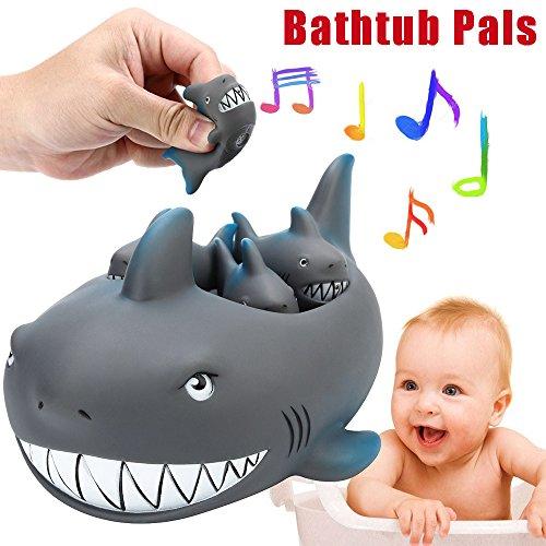 Schrumpfen Gummi Nette Shark Familie Badewanne Pals Wasser Spielzeug Baby Badewannenspielzeug Schwimm Badewanne Spielzeug FüR Kinder ()