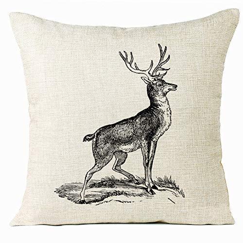go first fodere per cuscini in cotone e lino animali adorabili fodera per cuscino decorazioni per la casa federe per cuscino per divano divano 18 x 18 pollici (color : h, size : 18x18 inch)