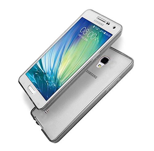 Galaxy S4 Coque,Samsung Galaxy S4 Etui,Vandot Samsung Galaxy S4 I9500 Etui Protection Dorsale Étui Slim Invisible Housse Cover Case en TPU Gel Silicone Coque de Protection Etui Transparent Antidérapan Transparent-Noir