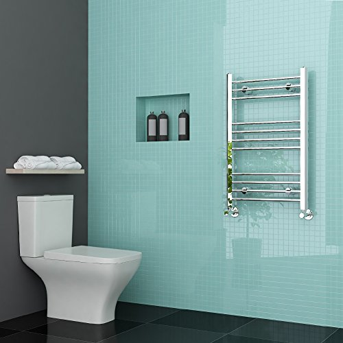 sunny showers 800 x 500mm Chrome Heated Towel Rail Designer Bathroom Radiator