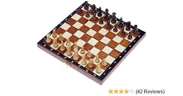 Schachbrett mit Figuren Reiseschachspiel Schachspiel magnetisch Italien