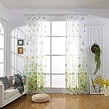Gaddrt Curtain Green Gaddrt 2 Panel Window Curtain Heart Shaped Curtain Tulle Window Treatment Voile Drape Valance Fabric Green Amazon Rs. 2780.00