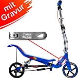 Space Scooter X 580 blau MIT GRAVUR - inkl. hochwertiger Namensgravur - SpaceScooter Wipproller X580 blue