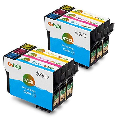 Gohepi (2 Ciano,2 Magenta,2 Giallo) Compatibile Cartucce Epson T0712 T0713 T0714 Epson Stylus SX110 SX218 SX210 SX415,Epson DX4400 DX8400 DX7400 D92 DX4450,Epson Stylus Office BX300F BX610FW BX600FW