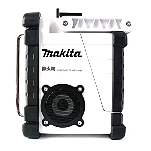 Makita DMR104W Job Site Radio Stereo with DAB and FM - White