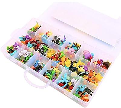 Nuevo lindo 144 piezas Pokemon Monstruo mini figuras (2-3cm) en una caja de almacenamiento (regalos de cumpleaños) por Fas&Faz