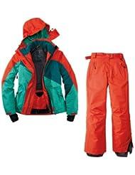 Traje de esquí. Traje de esquí funcional para mujer Talla 42M de 2Color. Rojo y Verde de azul chaqueta insulada