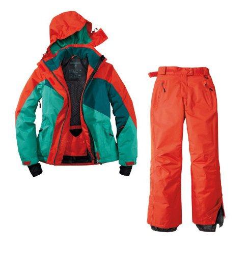 Skianzug 2tlg. Funktioneller Skianzug Für Damen Gr. 42 M-2 Farbe. Rot-Grün-Blau Schneeanzug Thinsulate Skijacke