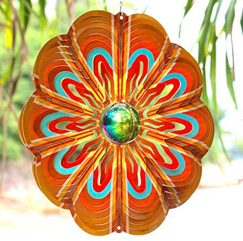 Art Jardin Metall-Windspiel - Outdoor Hänge-Dekoration - Metall Garten Kunst Kunst 30,5 cm SS -