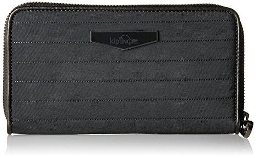 Kipling Damen NIMMI Geldbörse, Schwarz (Bold Black), 18.5x10x2 cm