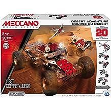Meccano 6026306 - Aventura en el Desierto, para construir 20 diferentes vehículos