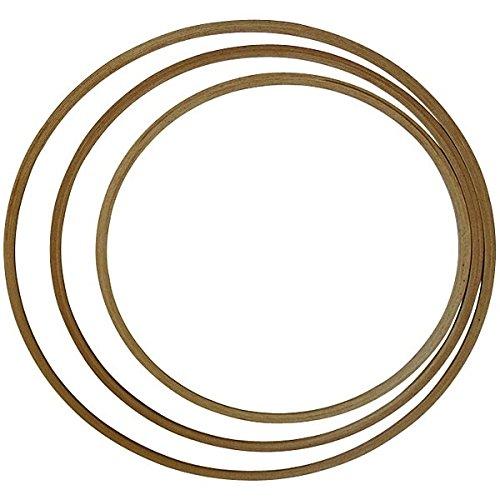 Preisvergleich Produktbild Grevinga® Gymnastikreifen / Hula Hoop aus Holz Ø 60 cm