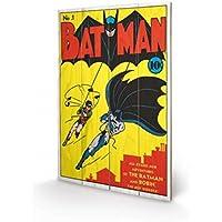 Set: Batman, No.1 Issue Cuadro De Madera (60x40 cm) + 1x 1 Accesorio Decorativo De Promoción 1art1®