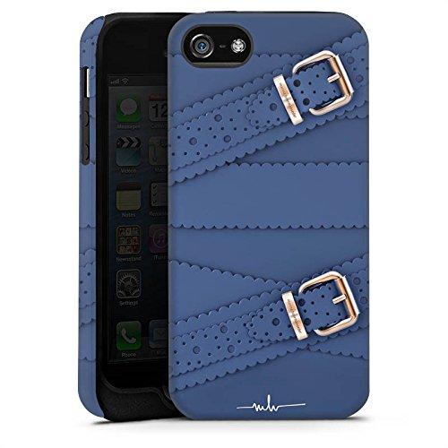 Apple iPhone X Silikon Hülle Case Schutzhülle Leder Mode Schnallen Tough Case matt