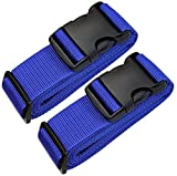 [Paquete de 2] Correas para Equipaje, Cinturones de la Maleta Personalizado, Accesorios de Viaje Azul - Correa de seguridad para equipaje Ajustable arco Azul...