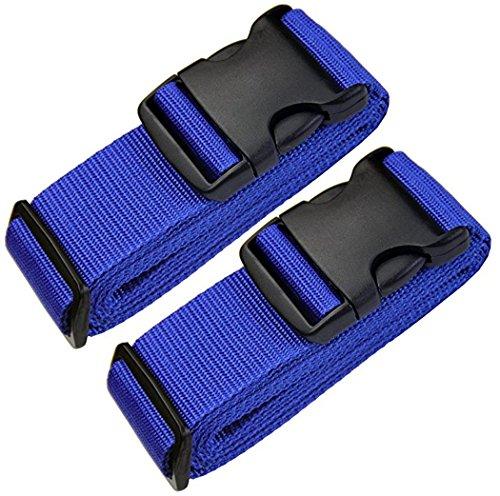 [Paquete de 2] Correas para Equipaje, Cinturones de la Maleta Personalizado, Accesorios de Viaje Azul - Correa de seguridad para equipaje Ajustable arco Azul…