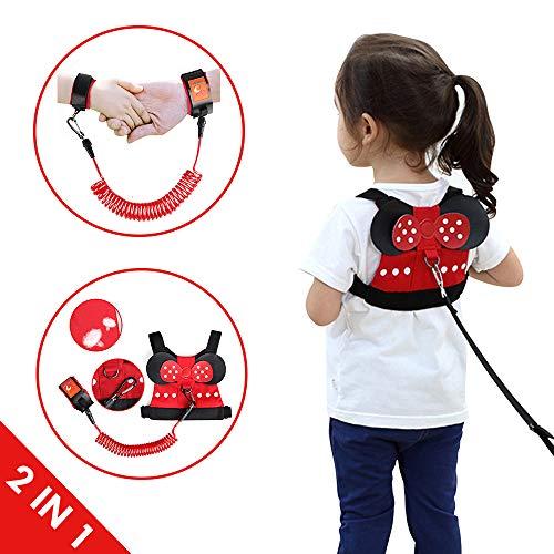 Lehoo Castle Imbracatura di Sicurezza per Bambini, Anti Perso Cinturino Cintura, Imbracature e guinzagli per bambini piccoli di sicurezza (Minnie)