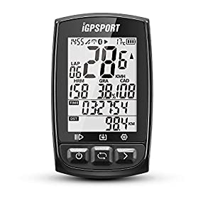 51QuuYqVeJL. SS300  - IGPSPORT GPS Bike Computer iGS50E Wireless Cycle Computer Waterproof Compatible Speed Cadence Heart rate Sensor (Not…