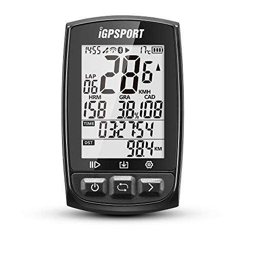 IGPSPORT GPS Bike Computer iGS50E Wireless Cycle Computer Waterproof Compatible Speed Cadence Heart rate Sensor (Not…