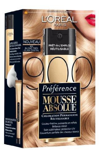 L'Oréal Paris Préférence Mousse Absolue Coloration Blonde Réutilisable 900 Blond Très Clair Cristal